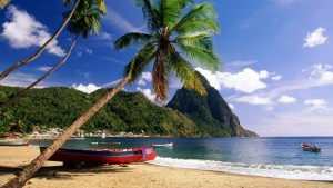 Soufriere beach St. Lucia by Stlucia taxi Services