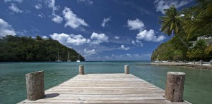 water view in St. Lucia
